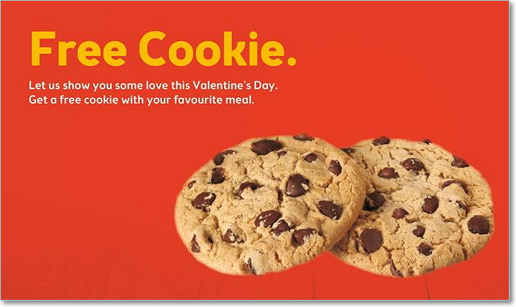 Free Cookie On Valentines Day
