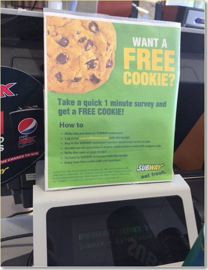 Win A Free Cookie
