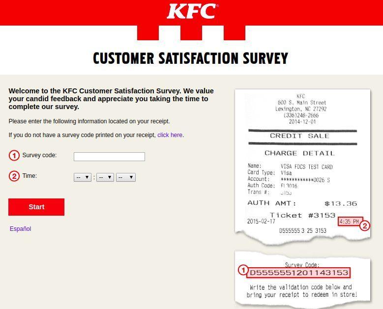 Www.MyKFCExperience.Com Homepage