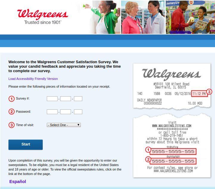 Www.Walgreenslistens.Com Homepage