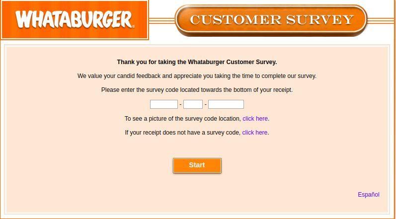 Www.Whataburgervisit.Com Homepage