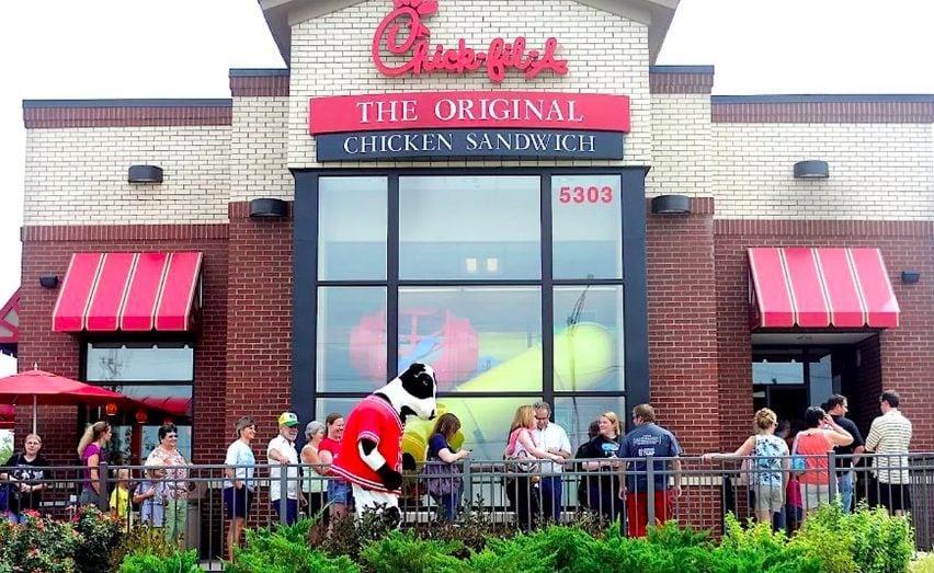 Chick-Fil-A restaurant view
